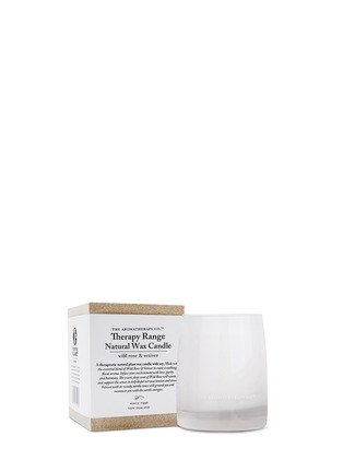 Main View - Click To Enlarge - The Aromatherapy Company - Wild Rose and Vetiver scented candle