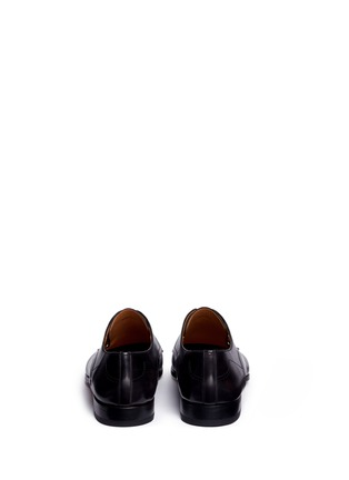 Back View - Click To Enlarge - Magnanni - Brushstroke finish leather Derbies