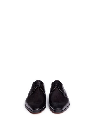 Front View - Click To Enlarge - Magnanni - Brushstroke finish leather Derbies