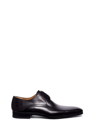 Main View - Click To Enlarge - Magnanni - Brushstroke finish leather Derbies