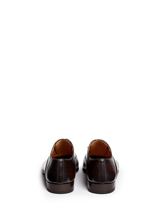 Back View - Click To Enlarge - Magnanni - Medallion toe cap five eyelet leather Oxfords