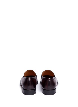 Back View - Click To Enlarge - Magnanni - Burnished leather penny loafers