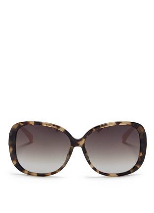 Main View - Click To Enlarge - MATTHEW WILLIAMSON - Contrast temple tortoiseshell acetate oversize sunglasses