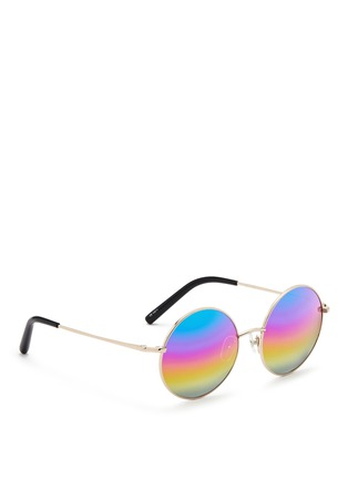 Figure View - Click To Enlarge - Matthew Williamson - Round metal mirror sunglasses