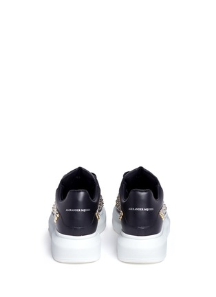Back View - Click To Enlarge - Alexander McQueen - Chunky outsole mix stud leather sneakers