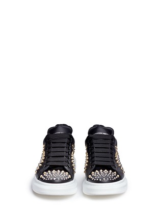 Front View - Click To Enlarge - Alexander McQueen - Chunky outsole mix stud leather sneakers