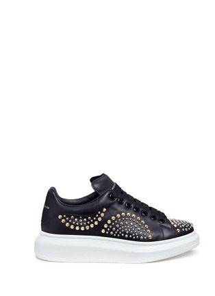 Main View - Click To Enlarge - Alexander McQueen - Chunky outsole mix stud leather sneakers