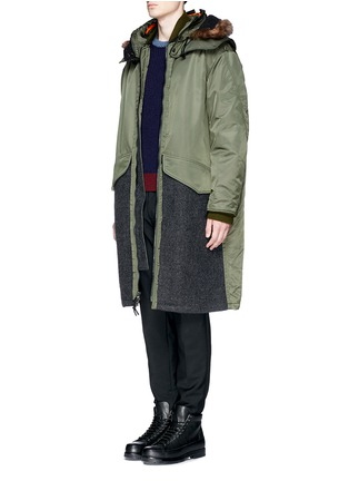 Figure View - Click To Enlarge - 3.1 Phillip Lim - Detachable shearling hood oversized parka