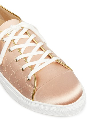 Detail View - Click To Enlarge - Charlotte Olympia - 'Web' embroidered silk satin sneakers