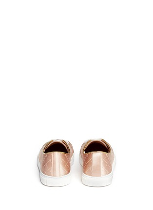 Back View - Click To Enlarge - Charlotte Olympia - 'Web' embroidered silk satin sneakers