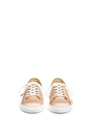 Figure View - Click To Enlarge - Charlotte Olympia - 'Web' embroidered silk satin sneakers