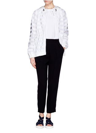 Figure View - Click To Enlarge - Moncler Grenoble - 'Camlez' nylon stripe mesh jacket