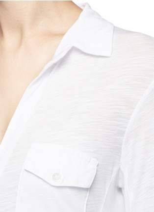 Detail View - Click To Enlarge - James Perse - Ribbed side slub jersey shirt