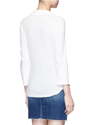 Back View - Click To Enlarge - James Perse - Ribbed side slub jersey shirt