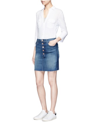 Figure View - Click To Enlarge - James Perse - Ribbed side slub jersey shirt