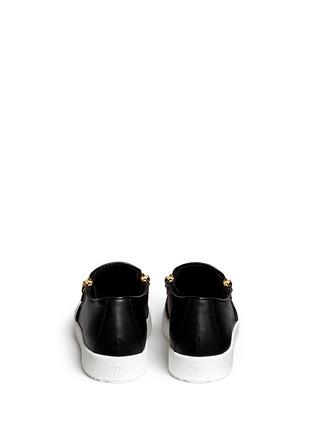 Back View - Click To Enlarge - Giuseppe Zanotti Design - 'May London' logo leather skate slip-ons