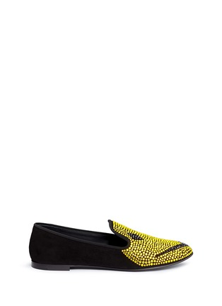 Main View - Click To Enlarge - Giuseppe Zanotti Design - 'Dalila' strass suede slip-ons