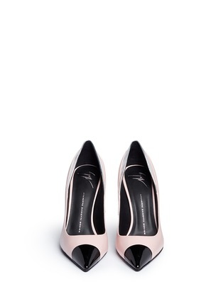Front View - Click To Enlarge - Giuseppe Zanotti Design - 'Lucrezia' leather combo pumps
