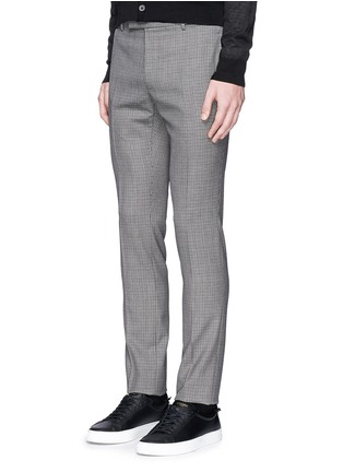 Front View - Click To Enlarge - Lanvin - Check wool hopsack pants