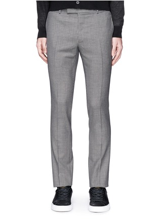 Main View - Click To Enlarge - Lanvin - Check wool hopsack pants