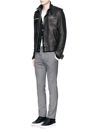 Figure View - Click To Enlarge - Lanvin - Check wool hopsack pants