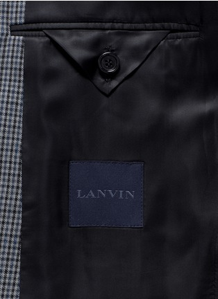 - Lanvin - Leather collar check wool blazer