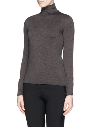 Front View - Click To Enlarge - Armani Collezioni - Turtleneck jersey top