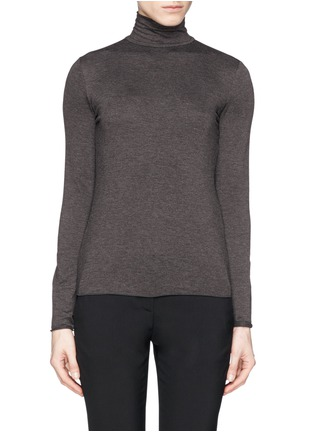 Main View - Click To Enlarge - Armani Collezioni - Turtleneck jersey top
