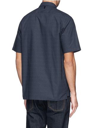 Back View - Click To Enlarge - rag & bone - 'Casper' geometric print poplin shirt