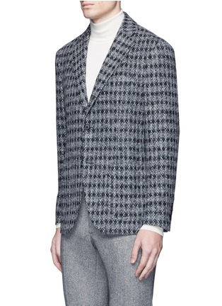 Front View - Click To Enlarge - Tomorrowland - Diamond jacquard Ferla alpaca-wool soft blazer