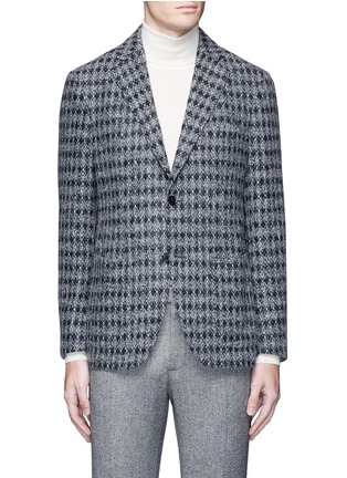 Main View - Click To Enlarge - Tomorrowland - Diamond jacquard Ferla alpaca-wool soft blazer