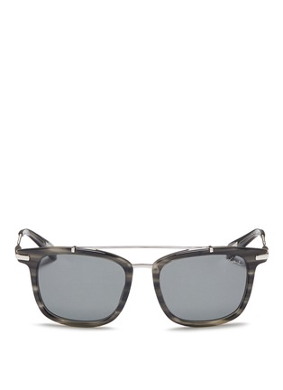 Main View - Click To Enlarge - Lanvin - Herringbone chain temple tortoiseshell acetate square sunglasses