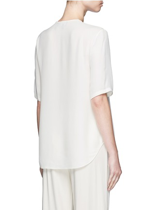 Back View - Click To Enlarge - Theory - 'Antazie' silk georgette boxy top