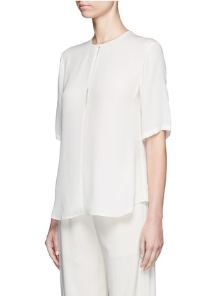 Front View - Click To Enlarge - Theory - 'Antazie' silk georgette boxy top