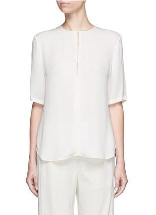 Main View - Click To Enlarge - Theory - 'Antazie' silk georgette boxy top