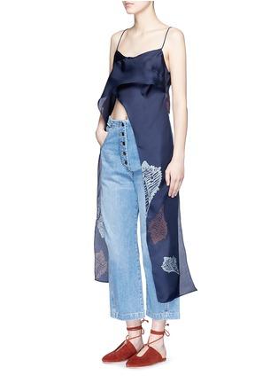 Figure View - Click To Enlarge - Rachel Comey - 'Virden' conch print drape cropped camisole top
