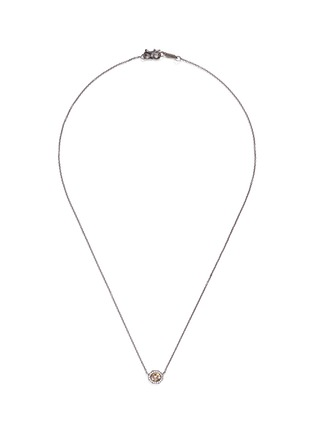 Main View - Click To Enlarge - MONIQUE PÉAN - Rose cut diamond 18k recycled white gold necklace