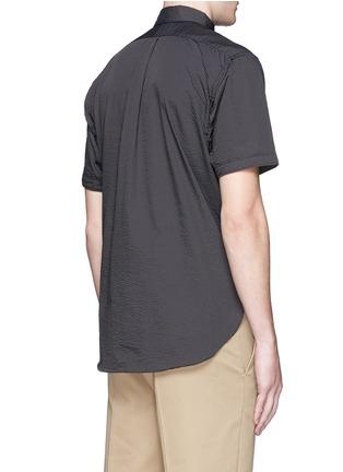 Back View - Click To Enlarge - nanamica - Stripe seersucker wind shirt