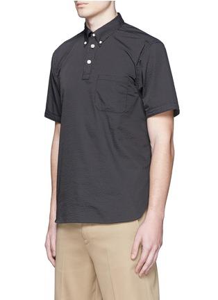Front View - Click To Enlarge - nanamica - Stripe seersucker wind shirt