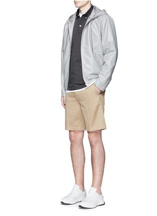 Figure View - Click To Enlarge - nanamica - Stripe seersucker wind shirt
