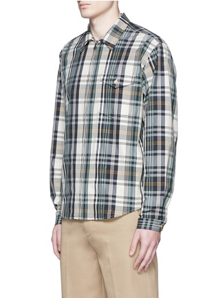 Front View - Click To Enlarge - nanamica - Check plaid wind shirt jacket