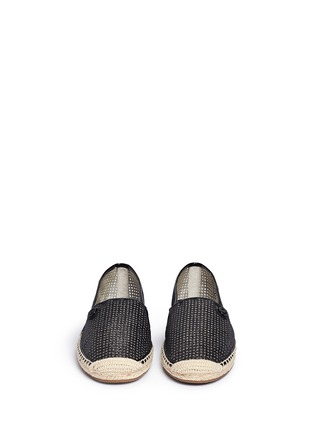 Front View - Click To Enlarge - Michael Kors - 'Kendrick' glitter gridwork espadrilles