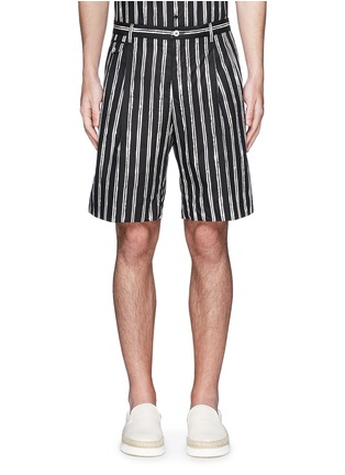 Main View - Click To Enlarge - Dolce & Gabbana - Vertical stripe cotton shorts