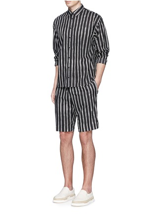 Figure View - Click To Enlarge - Dolce & Gabbana - Vertical stripe cotton shorts