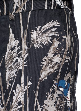 Detail View - Click To Enlarge - Dolce & Gabbana - Bird and bamboo print cotton twill pants