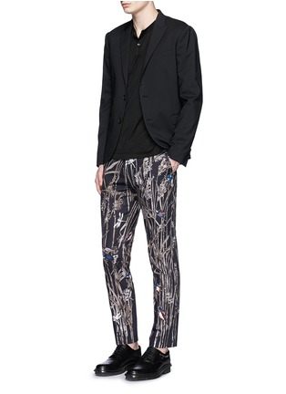 Figure View - Click To Enlarge - Dolce & Gabbana - Bird and bamboo print cotton twill pants