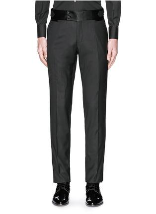 Main View - Click To Enlarge - Dolce & Gabbana - Satin cummerbund tuxedo pants