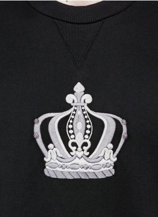 Detail View - Click To Enlarge - Dolce & Gabbana - Crown embroidery cotton sweatshirt