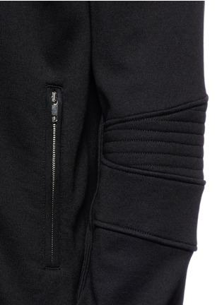 Detail View - Click To Enlarge - Dolce & Gabbana - Biker sleeve cotton bomber jacket