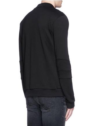 Back View - Click To Enlarge - Dolce & Gabbana - Biker sleeve cotton bomber jacket